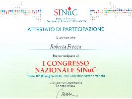 I CONGRESSO NAZIONALE SINuC SOCIETÀ ITALIANA DI NUTRIZIONE CLINICA E METABOLISMO